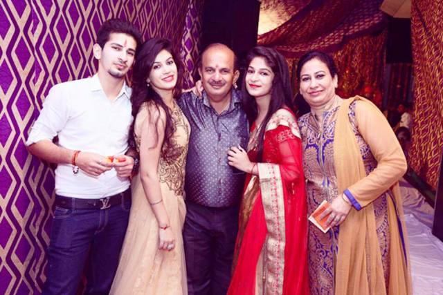 Bandgi Kalra with her family