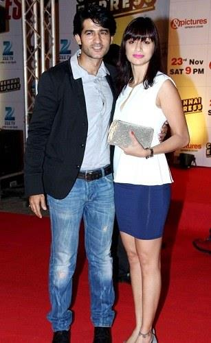 Hiten Tejwani with his wife Gauri Pradhan Tejwani