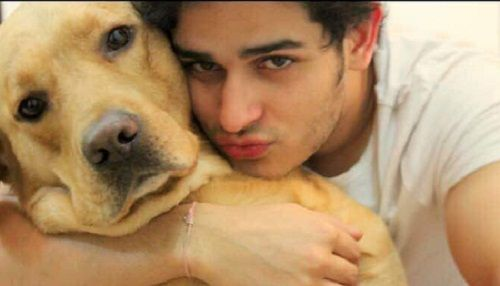 Priyank Sharma with his dog
