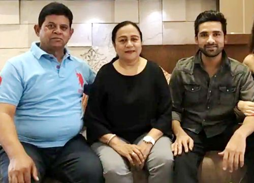 Puneesh Sharma with his parents