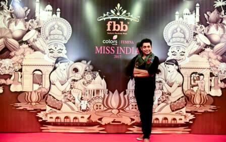 Sabyasachi Satpathy during the audition of Femina Miss India 2017