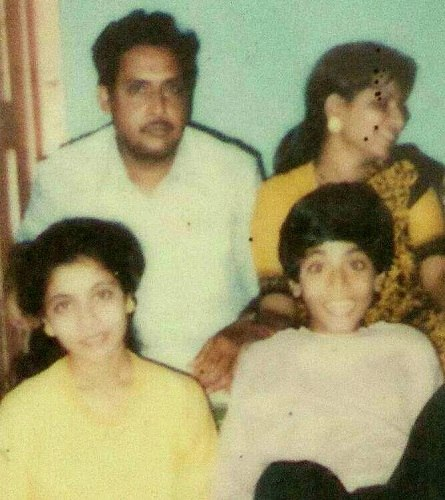 Sabyasachi Satpathy (childhood) with his family