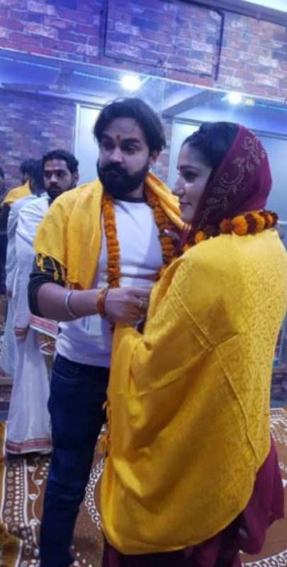 Sapna Choudhary with her husband Veer Sahu