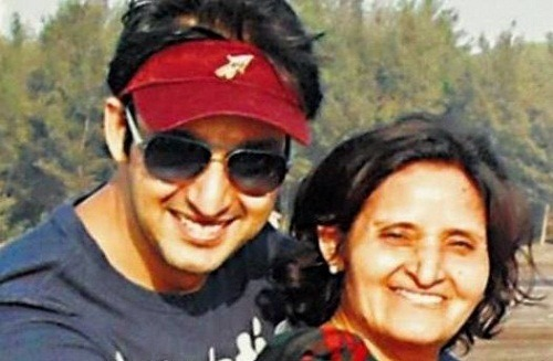 Saurabh Raj Jain with his mother Raj Jain