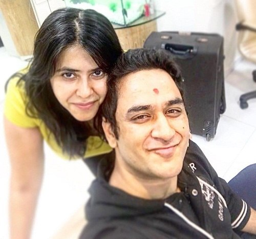 Vikas Gupta with Ekta Kapoor