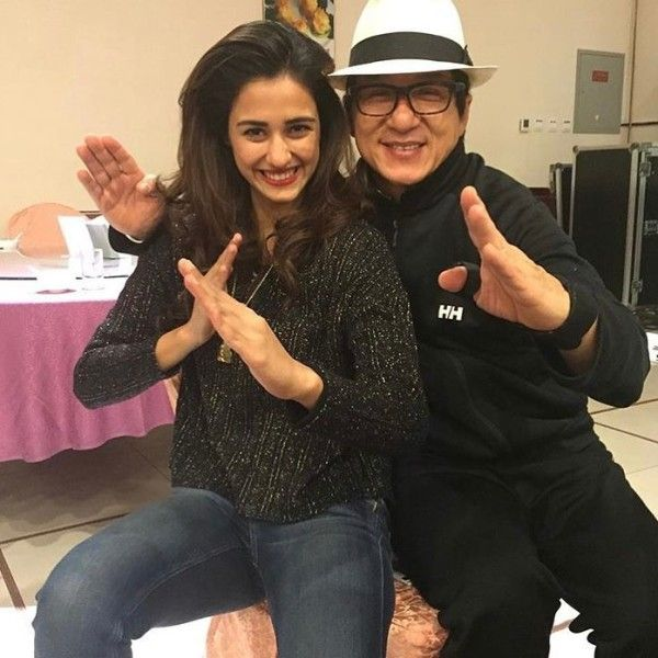 Disha Patani with Jackie Chan