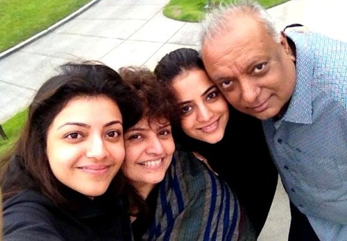 Kajal Aggarwal with her family