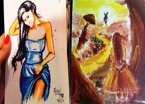 Mouni Roy paintings