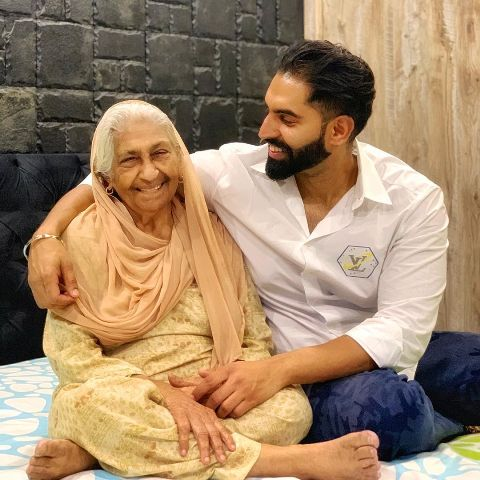 Parmish Verma with his maternal grandmother