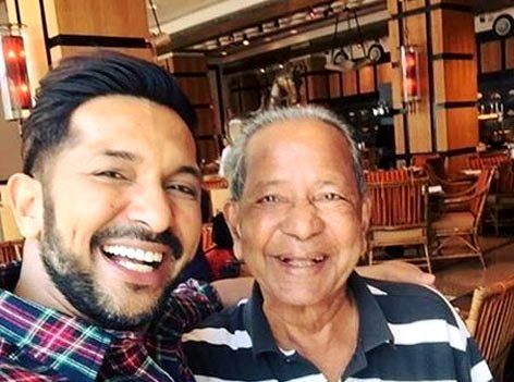 Terence Lewis with his father Xavier Lewis