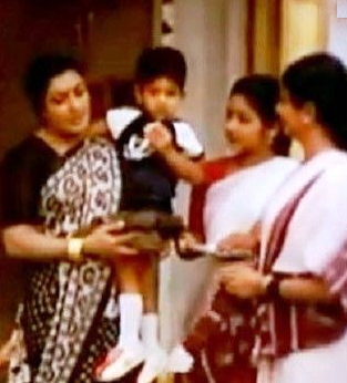 Allu Arjun as a child artist in Vijetha