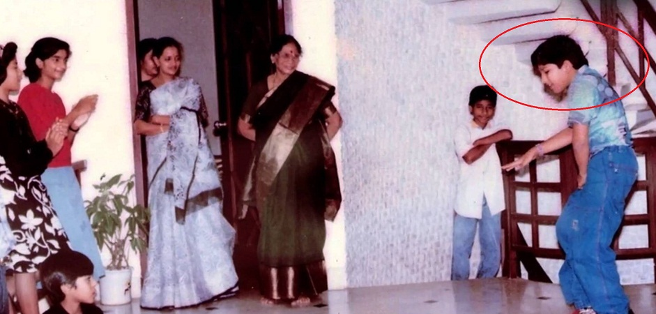 Allu Arjun during his school function