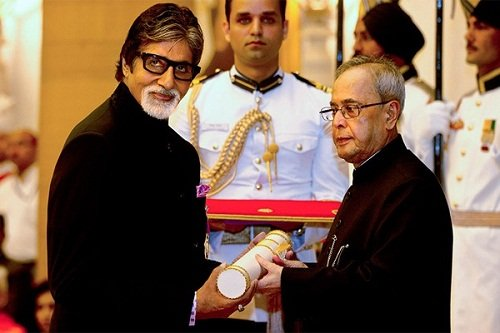 Amitabh Bachchan received Padma Vibhushan award
