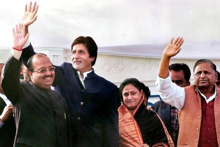 Amitabh Bachchan supports Samajwadi Party