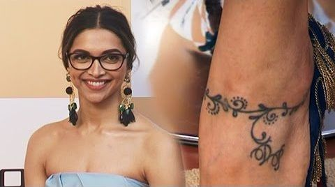 Deepika Padukone Tattoo on Ankle