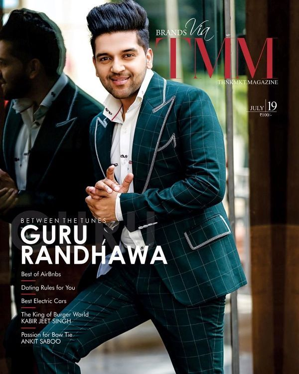 Guru Randhawa on the cover of TMM Magazine