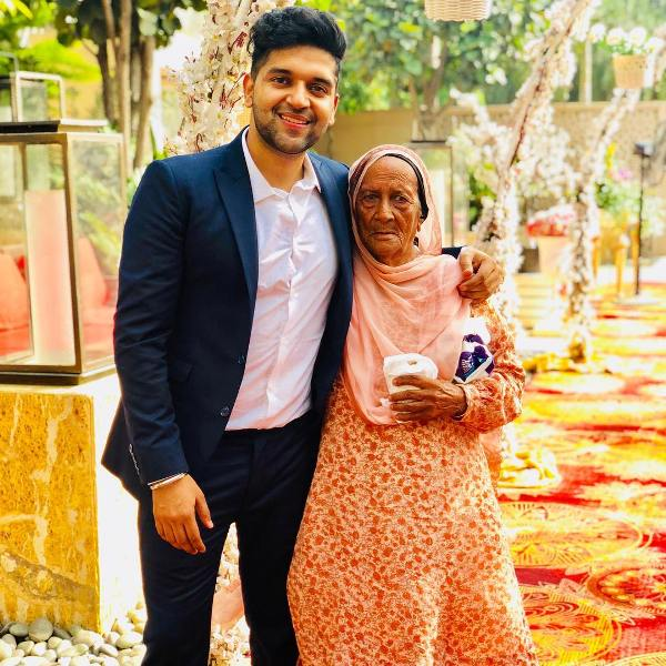 Guru Randhawa with his grandmother