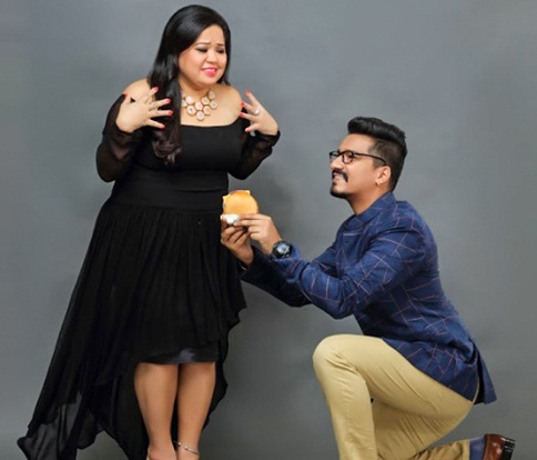 Haarsh Limbachiyaa with Bharti Singh