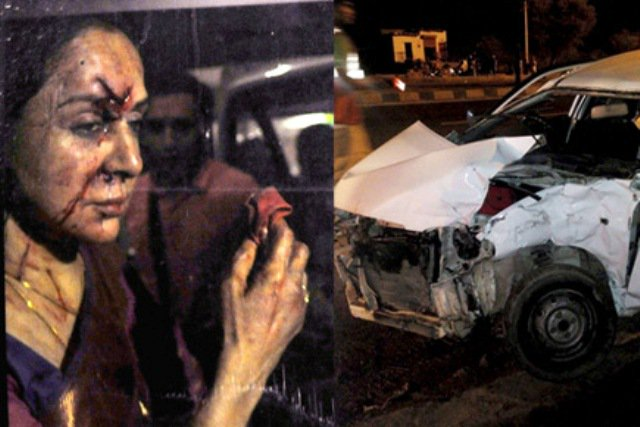 Hema Malini car accident controversy
