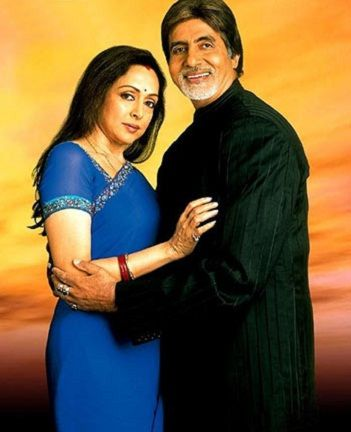 Hema Malini with Amitabh Bachchan in Baghban