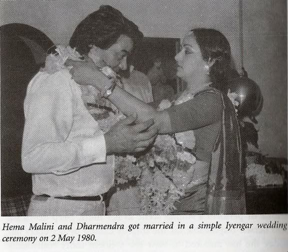 Hema and Dharmendra wedding pic