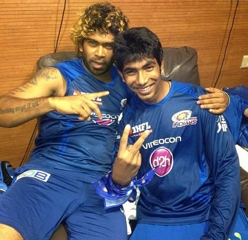 Jasprit Bumrah with Lasith Malinga