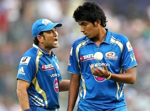 Jasprit Bumrah with Sachin Tendulkar