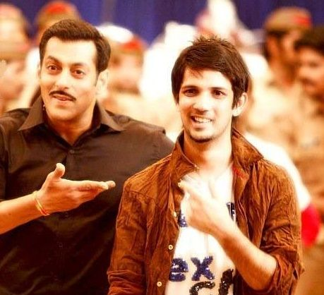 Muddassar Khan with Salman Khan