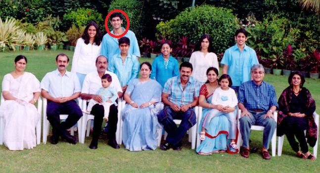 Rana Daggubati with his family