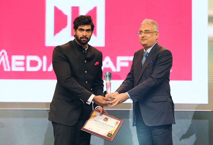 Rana Daggubati Receiving Award