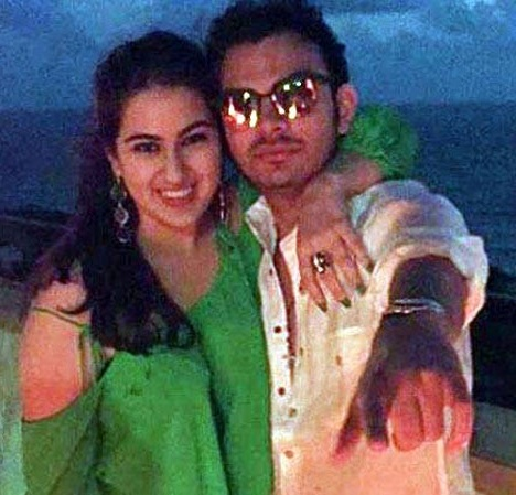 Sara Ali Khan With Veer Pahariya