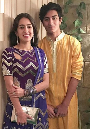Sara Ali Khan with her brother, Ibrahim Ali Khan