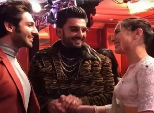 Sara Ali Khan With Kartik Aaryan and Ranveer Singh