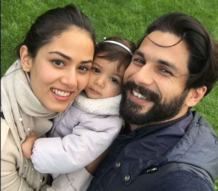 Mira Rajput with husband Shahid Kapoor and daughter Misha Kapoor