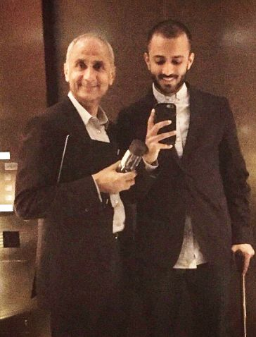 Anand Ahuja with his father