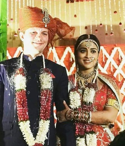 Andrei Koscheev and Shriya Saran wedding pic