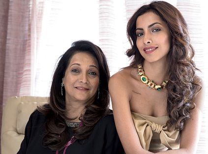 Antara Motiwala with her mother Bhavana Motiwala