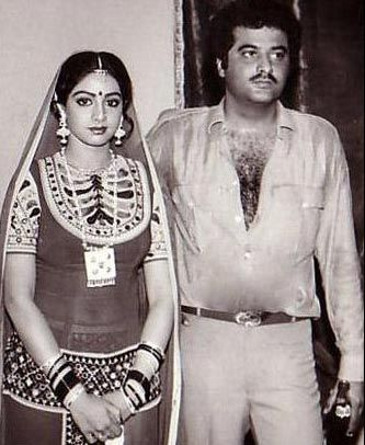 Boney Kapoor and Sridevi in late 1980s