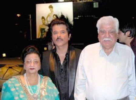 Boney Kapoor parents with his brother Anil Kapoor