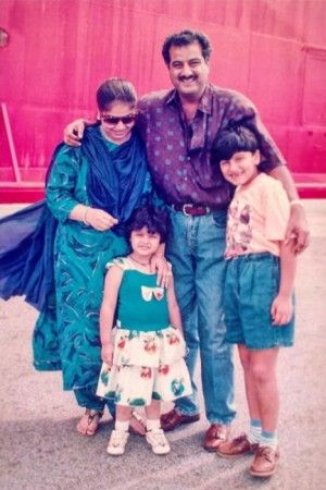 Boney Kapoor with his first wife and their children - Arjun Kapoor and Anshula Kapoor
