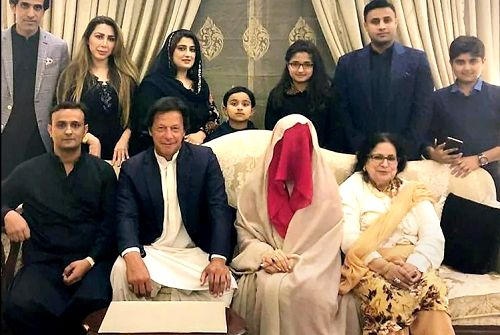 Bushra Maneka with Imran Khan