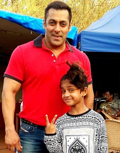 Ditya Bhande with Salman Khan