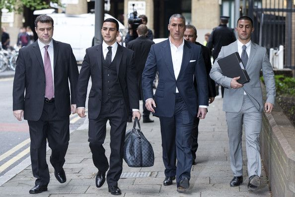 George Panayiotou with his brothe, father and friend after the controversy (2)