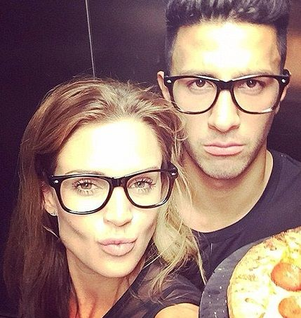 George Panayiotou with his girlfriend Danielle Lloyd