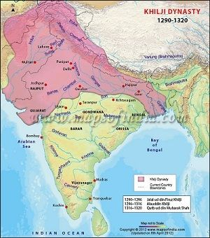 Khilji Dynasty Map