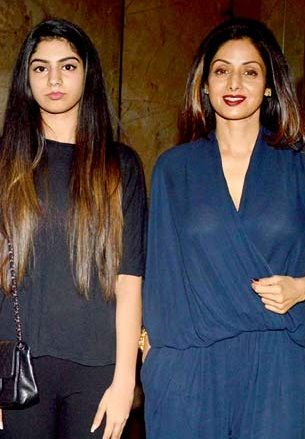 Khushi Kapoor with her mother actress Sridevi