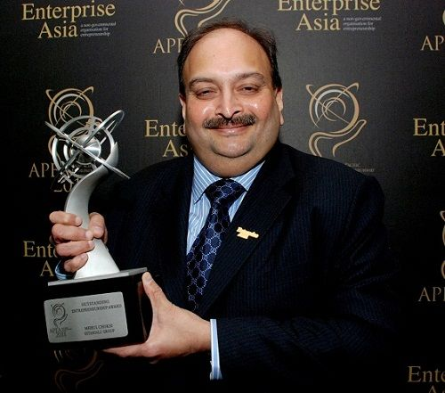 Mehul Choksi won outstanding entrepreneurship award