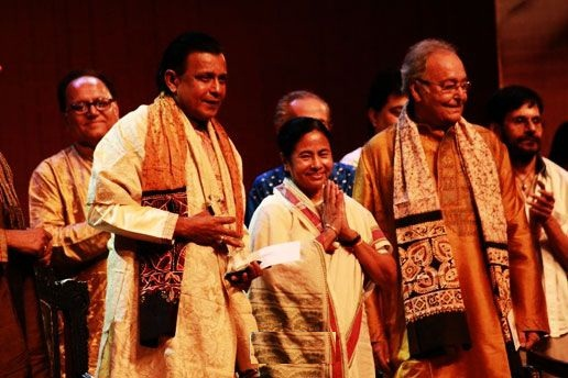 Mithun Chakraborty with Mamta Banerjee