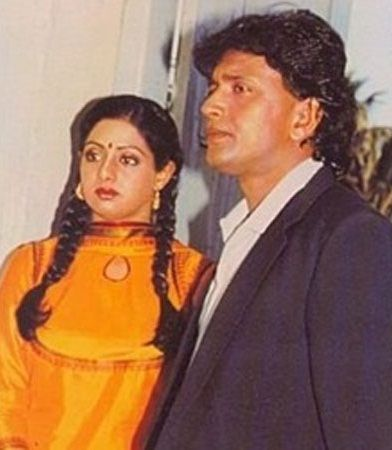 Mithun Chakraborty with Sridevi