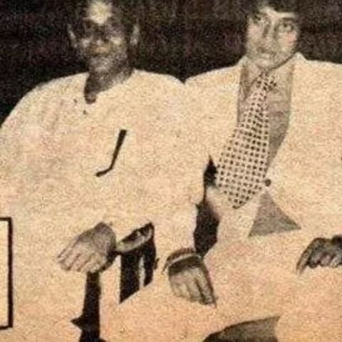 Mithun Chakraborty with his father